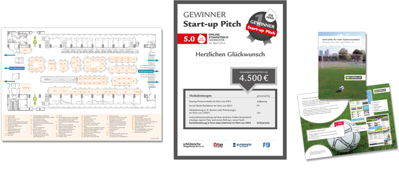 Gestaltung Messeplan, Plakat und Flyer nach Corporate Design